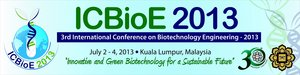 [2-4 Июля] 3rd International Conference on Biotechnology Engineering