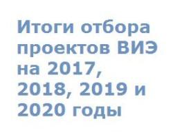 Подведены итоги отбора проектов ВИЭ на 2017, 2018, 2019 и 2020 годы