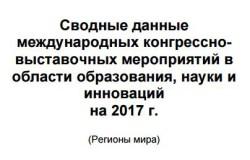 Международные конгрессно-выставочные мероприятиях в области образования, науки и инноваций на 2017 год
