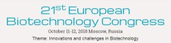 11-12 октября 2018 года — 21st European Biotechnology Congress