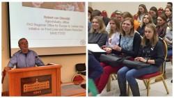 Эксперт ФАО выступил с лекциями в Краснодаре и Москве на тему сокращения потерь и отходов продовольствия